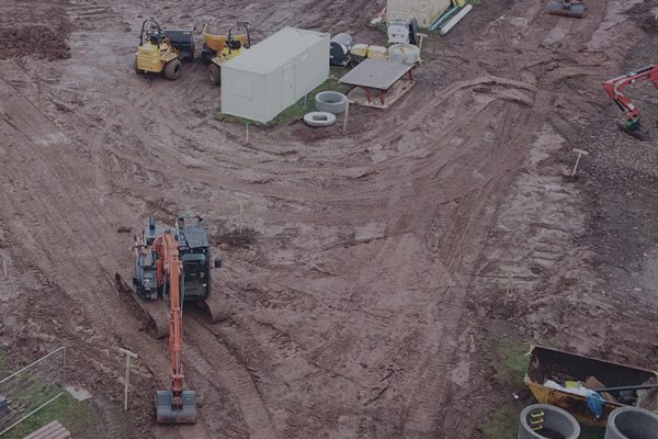 Earthworks being performed by Norcon in the Midlands area