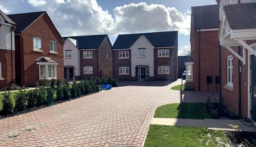 Houses at a housing development in the midlands where Norcon did the groundworks services.